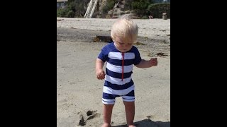 Baby Michael Learns To Walk!!