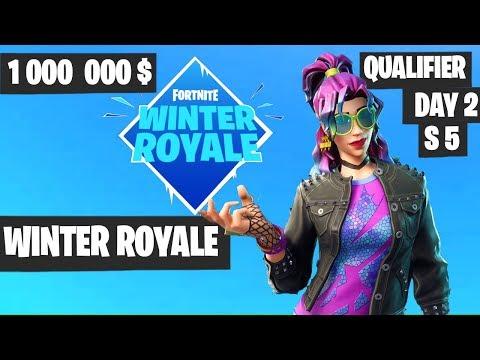 Fortnite Winter Royale Qualifier Day 2 Session 5 Highlights [Fortnite Tournament 2018]