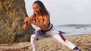 40 min No Equipment HIIT Workout | Glute Legs Thighs