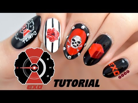 """EXO """"Tempo"""" Nail Art Tutorial"""