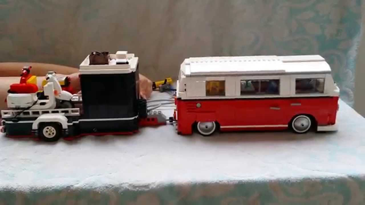 lego vw bulli t2 airride trailer 10220 youtube. Black Bedroom Furniture Sets. Home Design Ideas