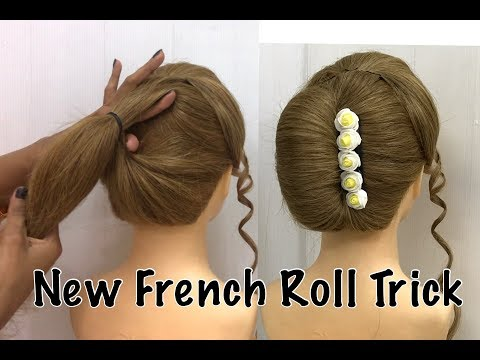 French Bun Hairstyle Trick | French Roll | French Twist Hairstyle | French Hairstyles