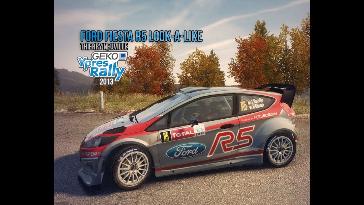 dirt3 ford fiesta r5 thierry neuville ypres 2013 custom livery youtube. Black Bedroom Furniture Sets. Home Design Ideas