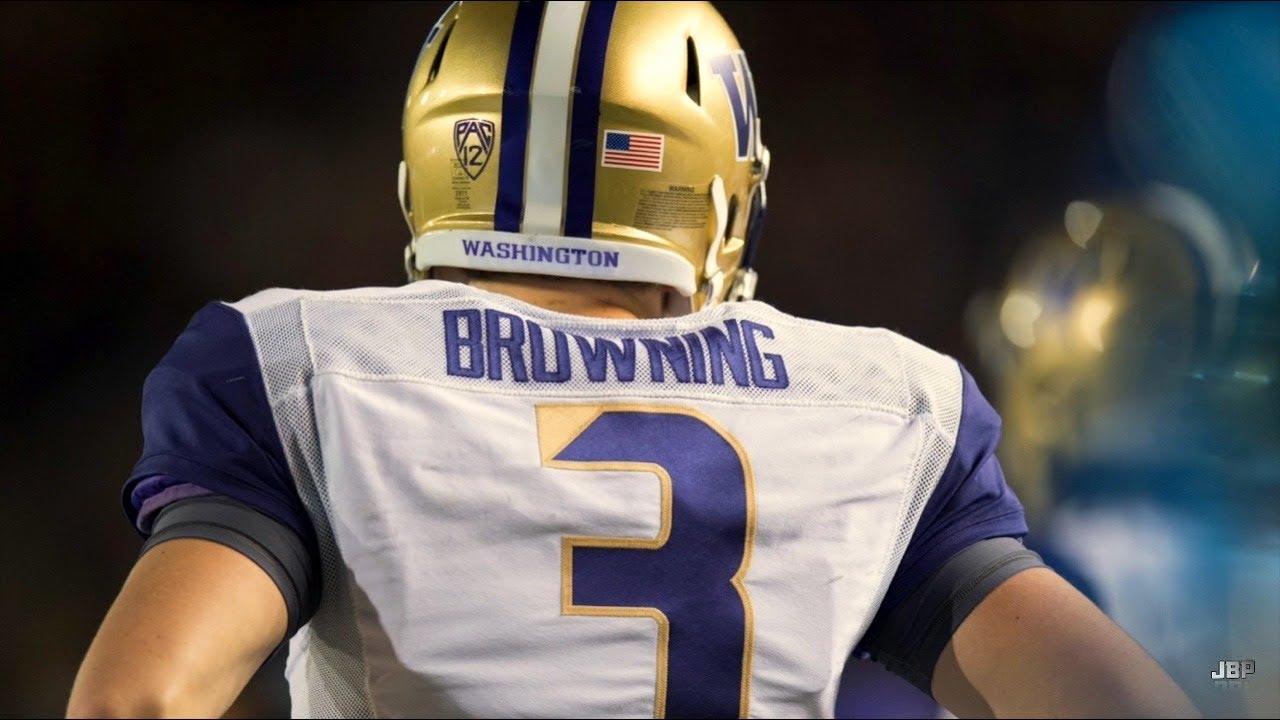 reputable site e2831 6a4cc Washington QB Jake Browning Highlights ᴴᴰ