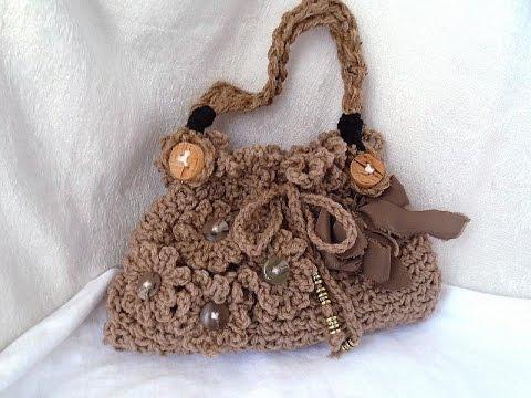 a2ba7dcebf Learn how to  crochet a handbag purse