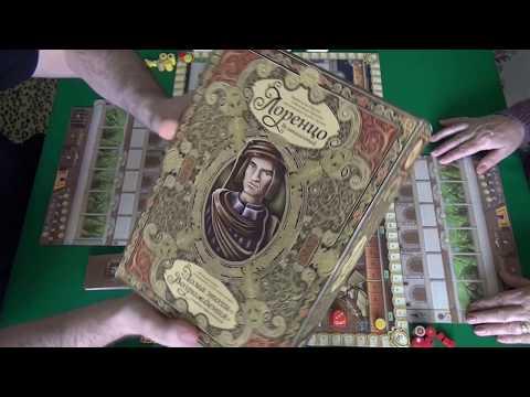 Лоренцо Великолепный 1/2 часть - играем в настольную игру
