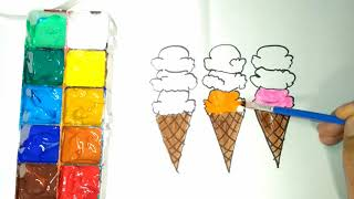 Gambar cover Glitter Toy Ice Cream Scoop coloring and drawing for Kids, Coloring videos