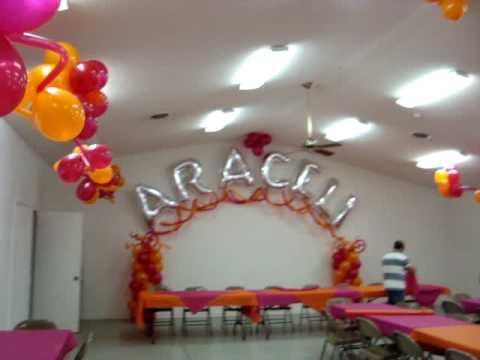 Decoracion para quincea era jardin flotante youtube for Arreglos de jardines