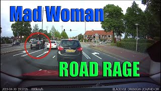 Bad Drivers, Road Rage and Driving Fails on Dashcam - The one with the mad woman #7 2019