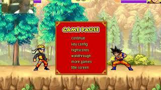 10 HIT COMBO W/ Goku & Naruto[ Dragon Ball Z vs CR Vegeta