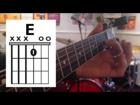 Jingle Bell Rock One Fingerthree String Chord Guitar Lesson Youtube