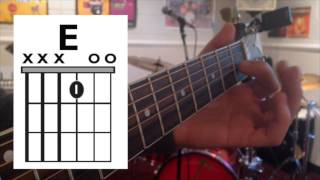 Jingle Bell Rock - One Finger/Three String Chord Guitar Lesson