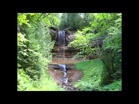 Munising Falls Michigan Waterfalls Upper Peninsula