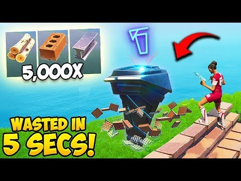 HOW TO WASTE 5000 Materials in 5 seconds! - Fortnite Funny Moments! #533