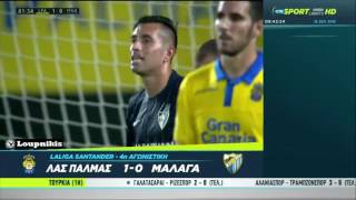 Video Gol Pertandingan Las Palmas vs Malaga