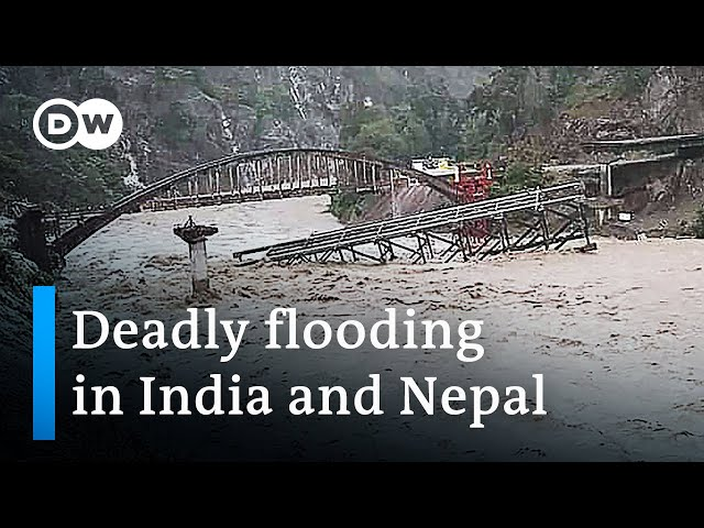 At least 180 killed in India and Nepal flooding | DW News