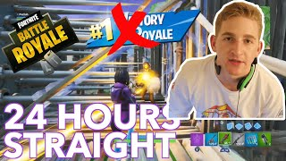 I Played Fortnite for 24 Hours STRAIGHT | Getting Good Overnight