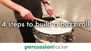 4 steps to build a buzz roll