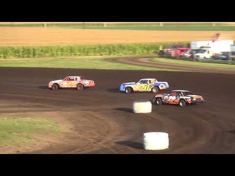 IMCA Hobby Stock Heats Benton County Speedway 8/20/17
