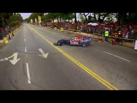 Alguersuari demoes the Red Bull in the Dominican Republic