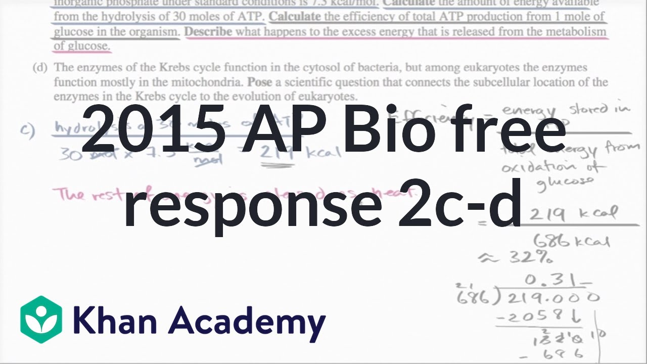 Ap biology essay questions ecology