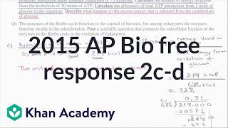 2015 ap biology free response 2 c d