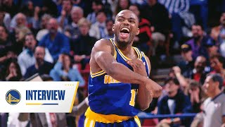 """Former warrior tim hardaway, the man with """"killer crossover,"""" joined broadcaster kelenna azubuike for a q&a warriors season ticket members. hear his..."""