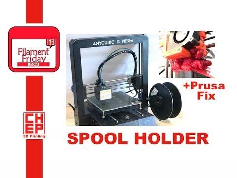 Anycubic Mega I3 3D Printer Filament Spool Holder and Prusa MK2S Filament  Blob Repair