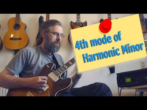 4th mode Harmonic Minor - Harmonic minor modes on Guitar