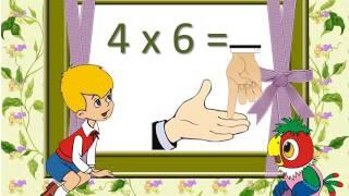 таблиця множення на 4 (повторення)
