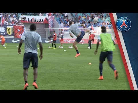 Zlatan amazing skills are back on the pitch
