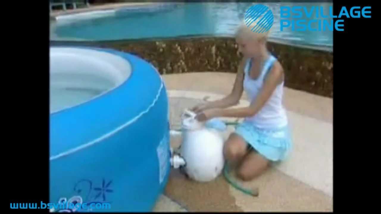 Mini piscina idromassaggio gonfiabile lay z spa premium by youtube - Piscina spa gonfiabile ...