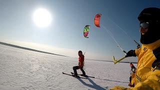 Snowkiting - Zalew Sulejowski