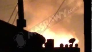 بالفيديو- اللحظات الأولى لحريق استوديوهات الأهرام