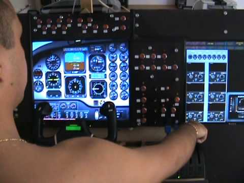 HOME COCKPIT FLIGHT SIM WITH SAITEK PRO FLIGHT
