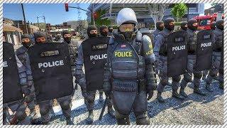 GTA 5 LSPDFR REAL LIFE COPS #7 - HUGE RIOT BREAKS OUTSIDE POLICE STATION