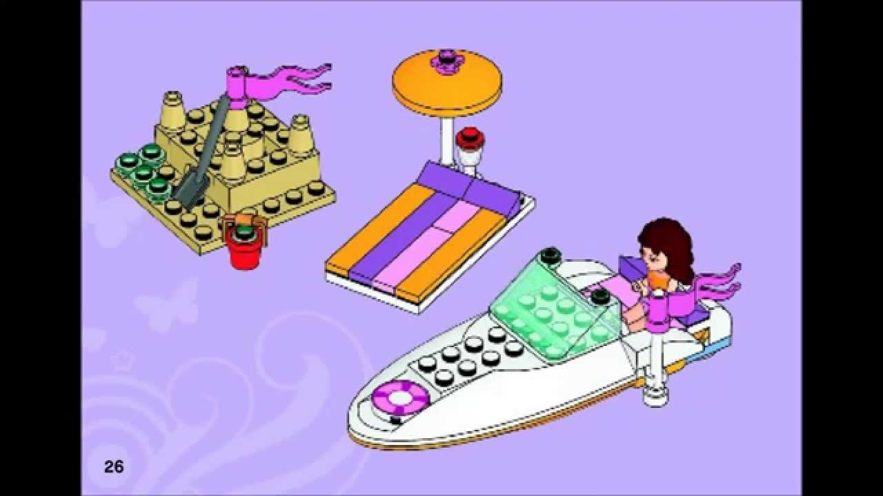 Lego Friends 3937 Olivias Speedboat Building Instructions Youtube