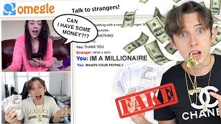 Download I FAKED being RICH on OMEGLE for a WHOLE WEEK *PRANK* Mp3 and Videos