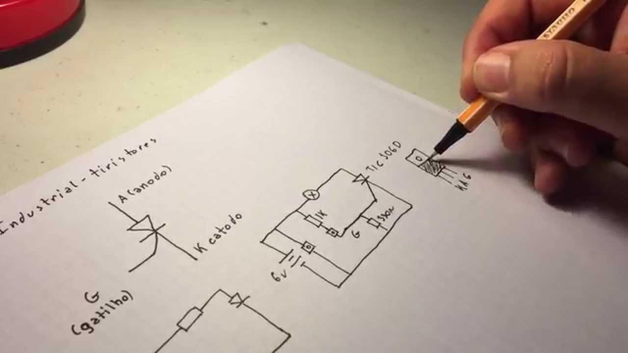 Circuito Com Scr Tic 106 : ª aula de eletrônica industrial tiristores scr introdução