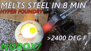 Boiling steel Foundry with Little dragon Diesel Burner HYPER FOUNDRY 1