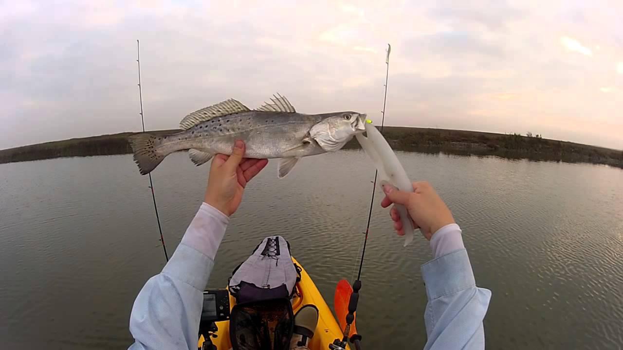Texas kayak fishing east galveston bay youtube for Free fishing day texas