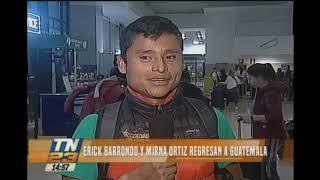 Erick Barrondo y Mirna Ortiz regresaron a Guatemala