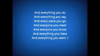 Soluna Samay Everything you do lyrics