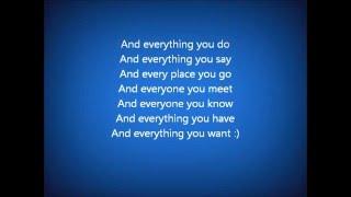 Soluna Samay Everything you do lyrics