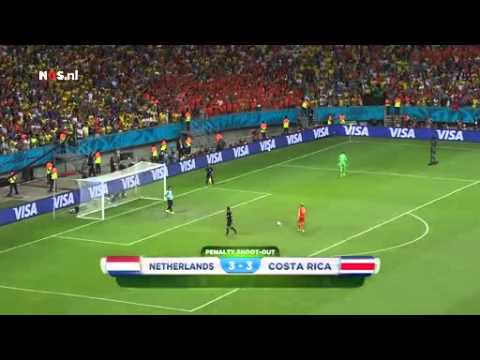 Nederland - Costa Rica penalty's (radio met beelden)