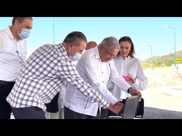 Inauguración de la Planta Potabilizadora Miravalles y Acueducto Picachos, desde Mazatlán, Sinaloa