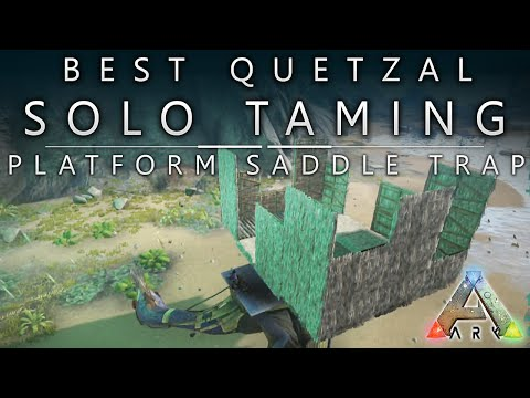 Ark Survival Evolved - Xbox One / Best Quetzal Trap Platform - Saddle / Solo Taming