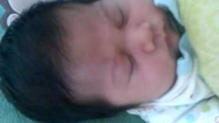 My 2 month old snoring lol!