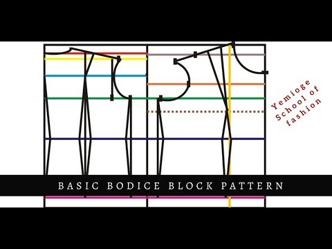 The Basic Bodice Block Pattern - Advance Method - YouTube
