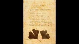 Johann Wolfgang von Goethe ~ Ginkgo Biloba